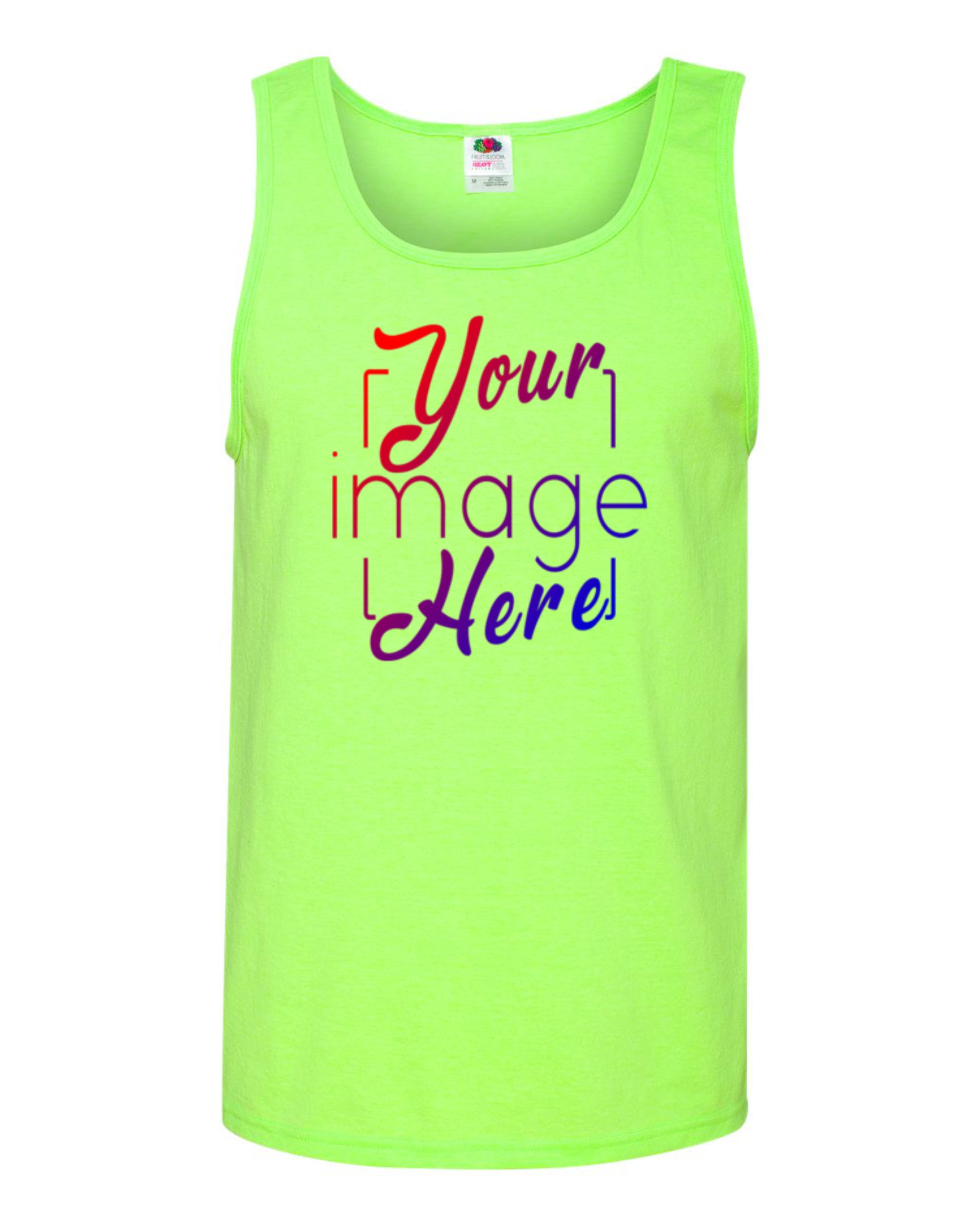 Image of front of Men's Tank Top for Custom Printing