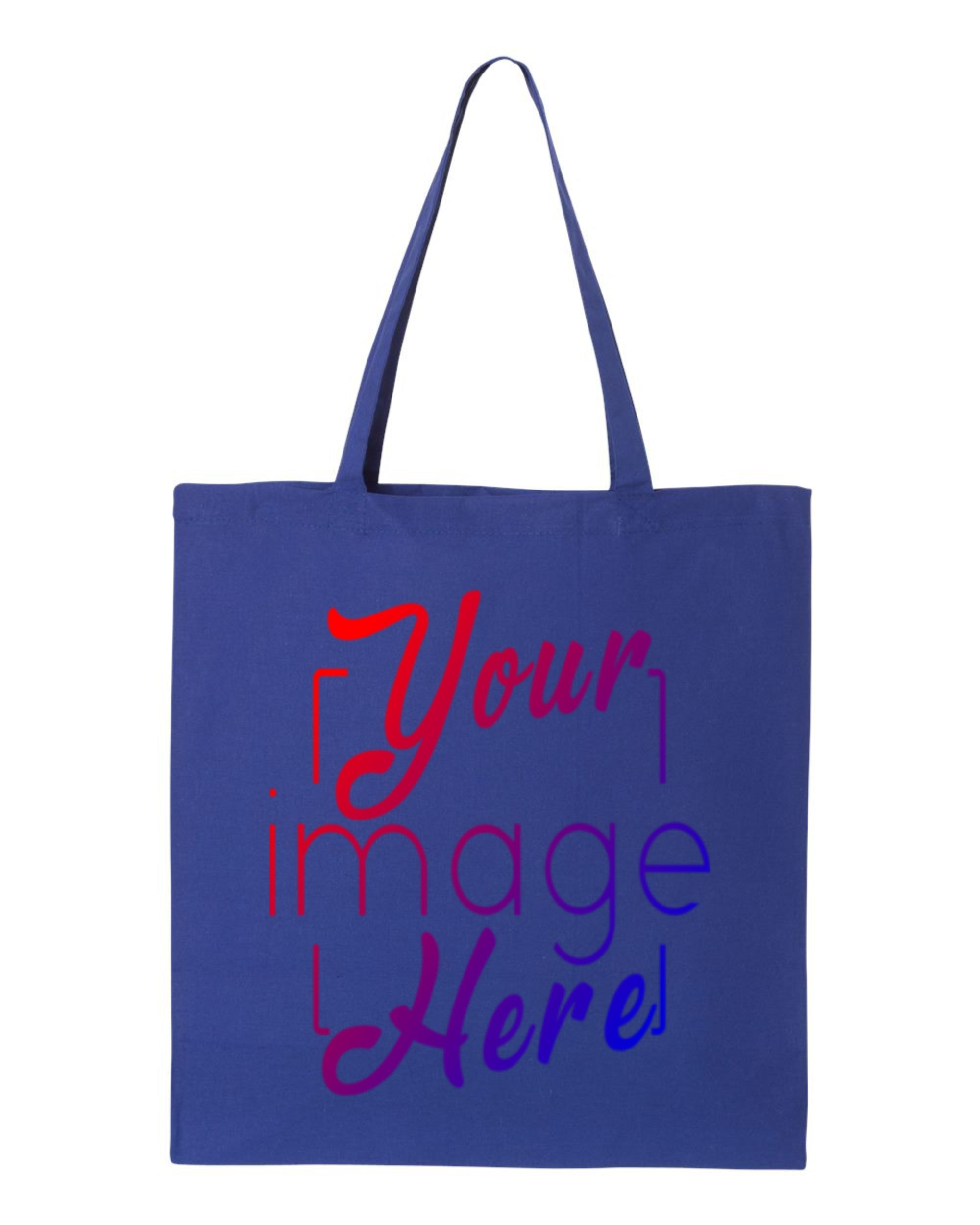 Flat Image of Canvas Tote Bag for Custom Printing