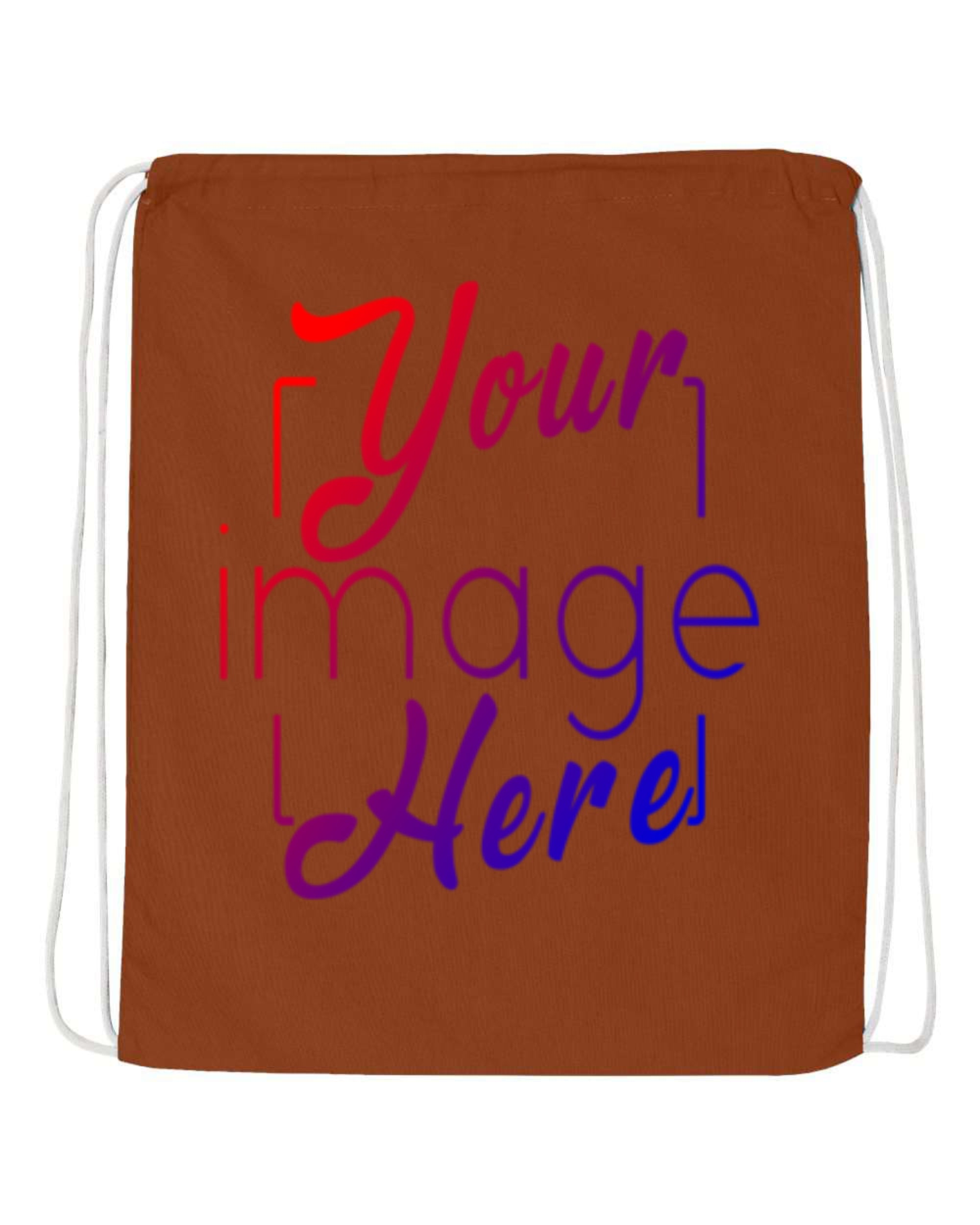 Flat Image of Drawstring Backpack for Custom Printing