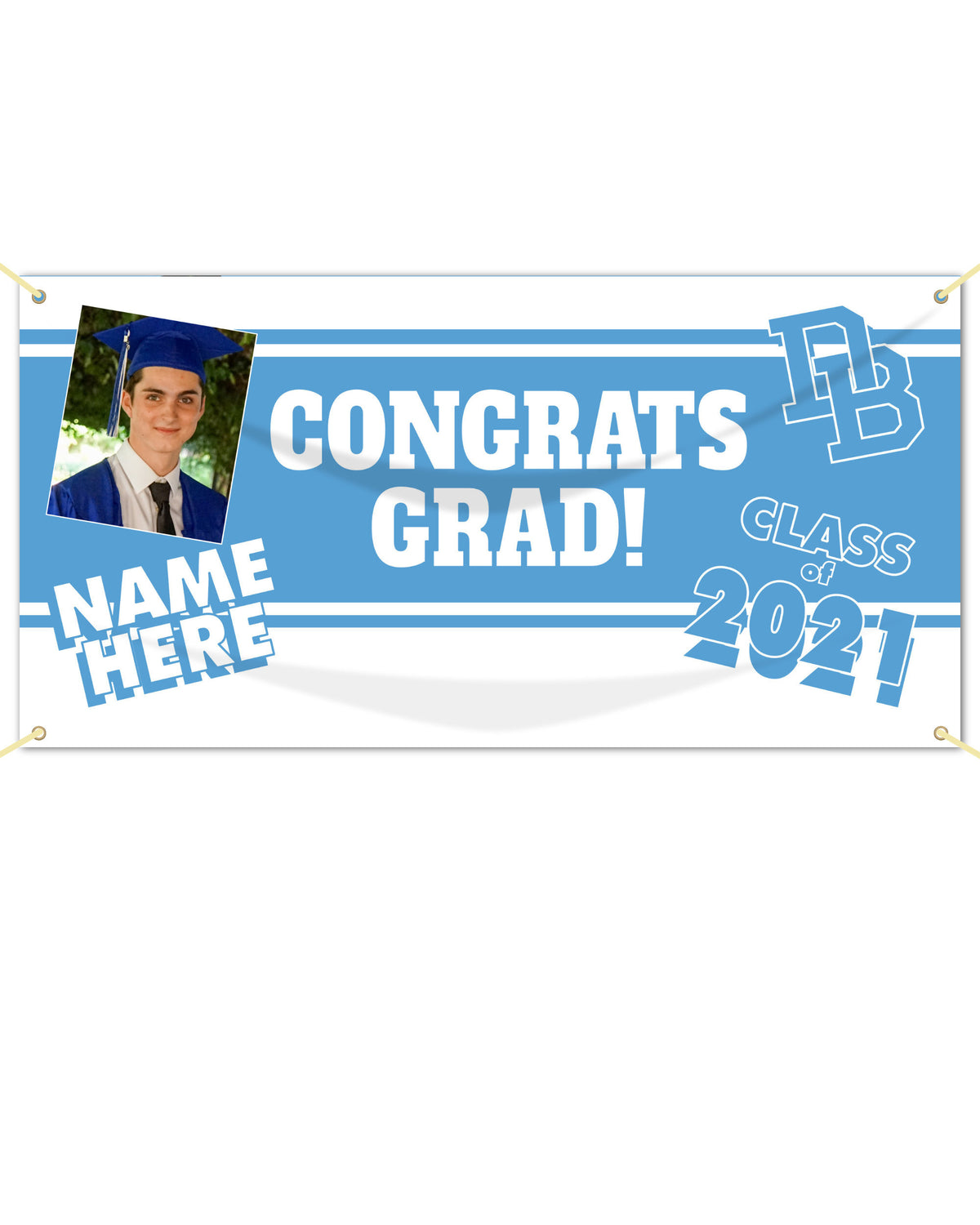 Daniel Boone Picture and Name Graduation Banner