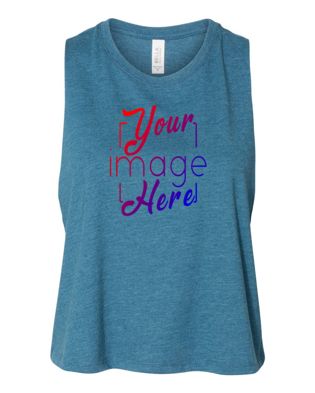 Front Image of Women's Racerback Tank Top for Custom Printing