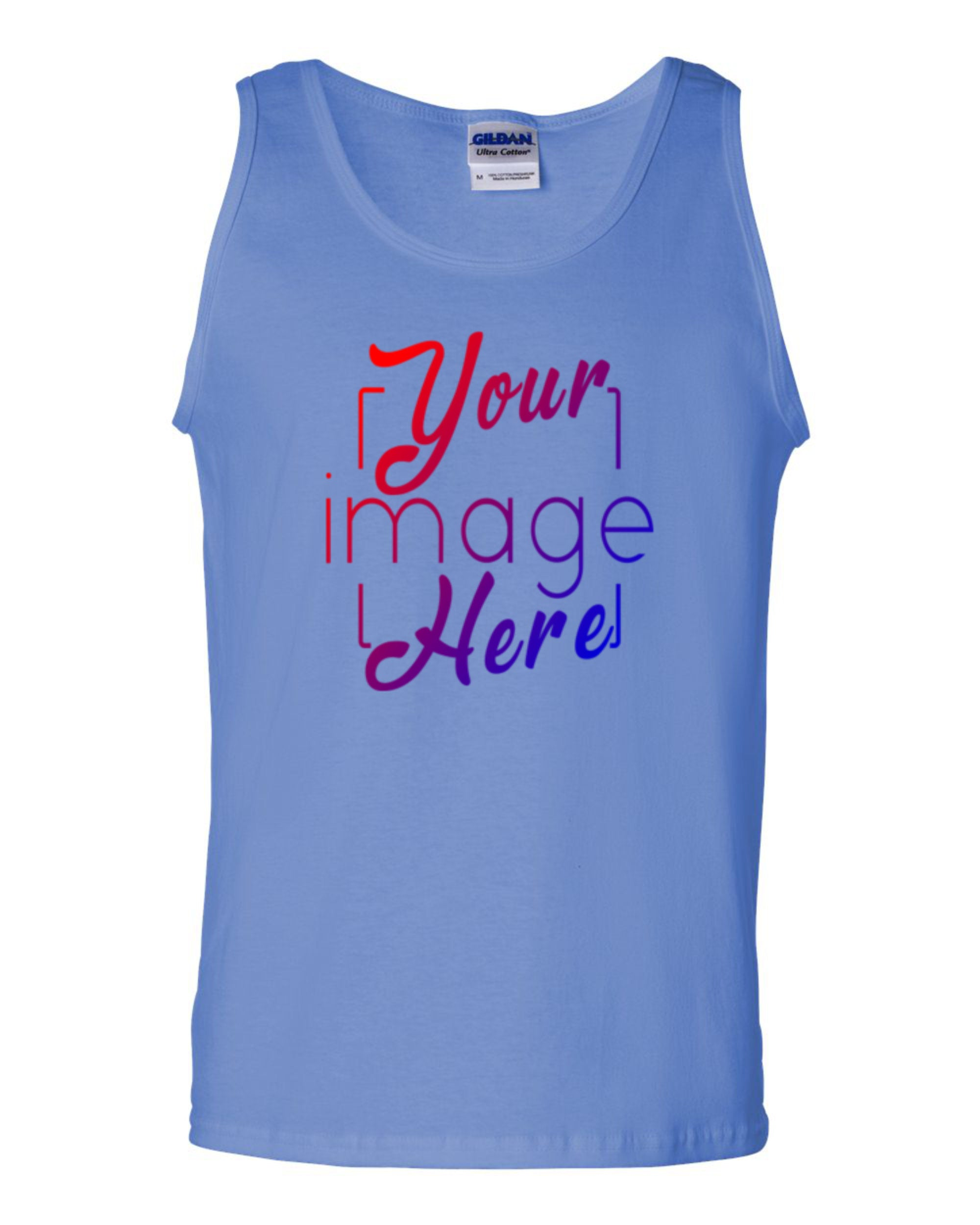 Front Image of Ultra Cotton Tank Top for Custom Printing