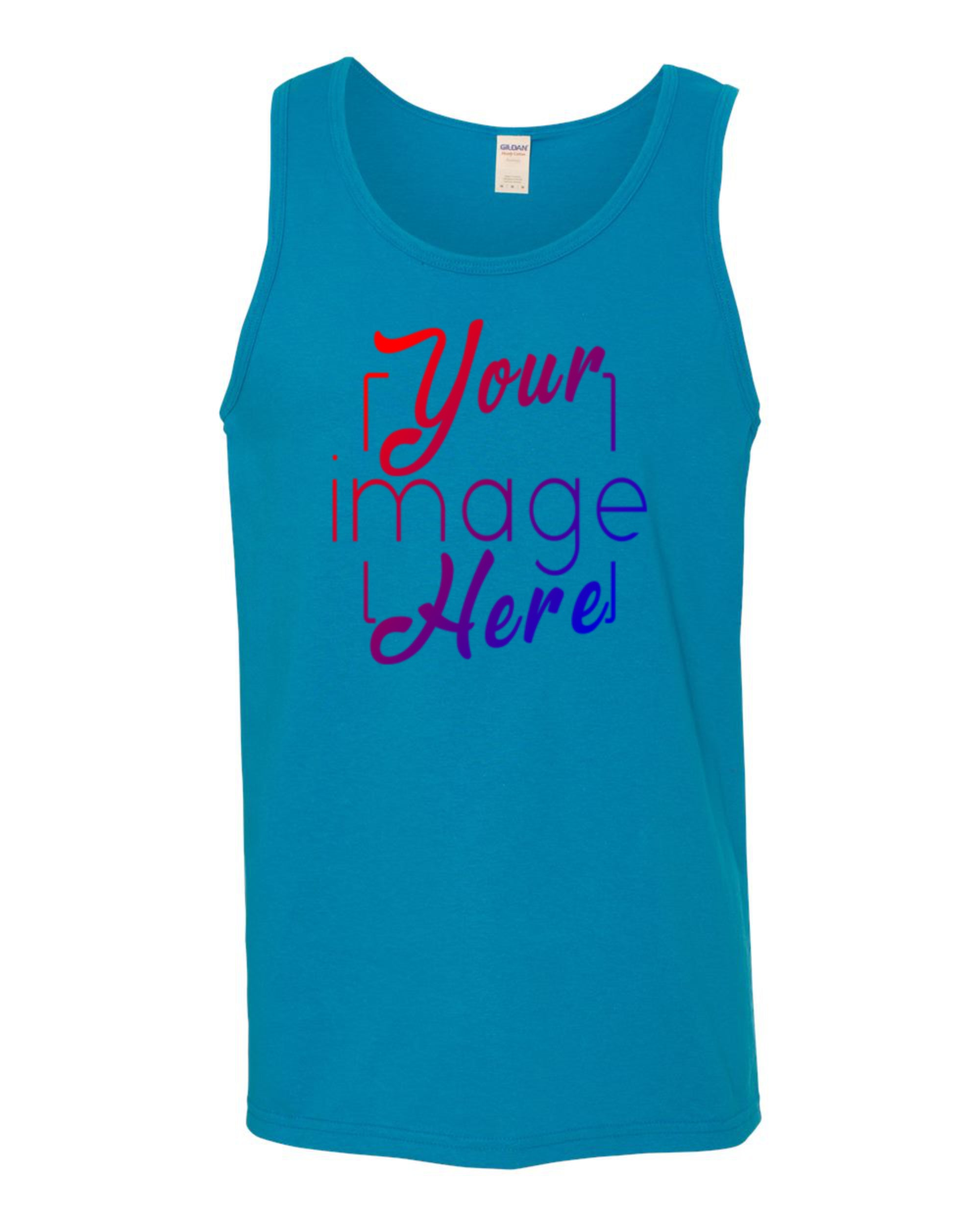 Flat Image of front of Men's Tank Top for Custom Printing