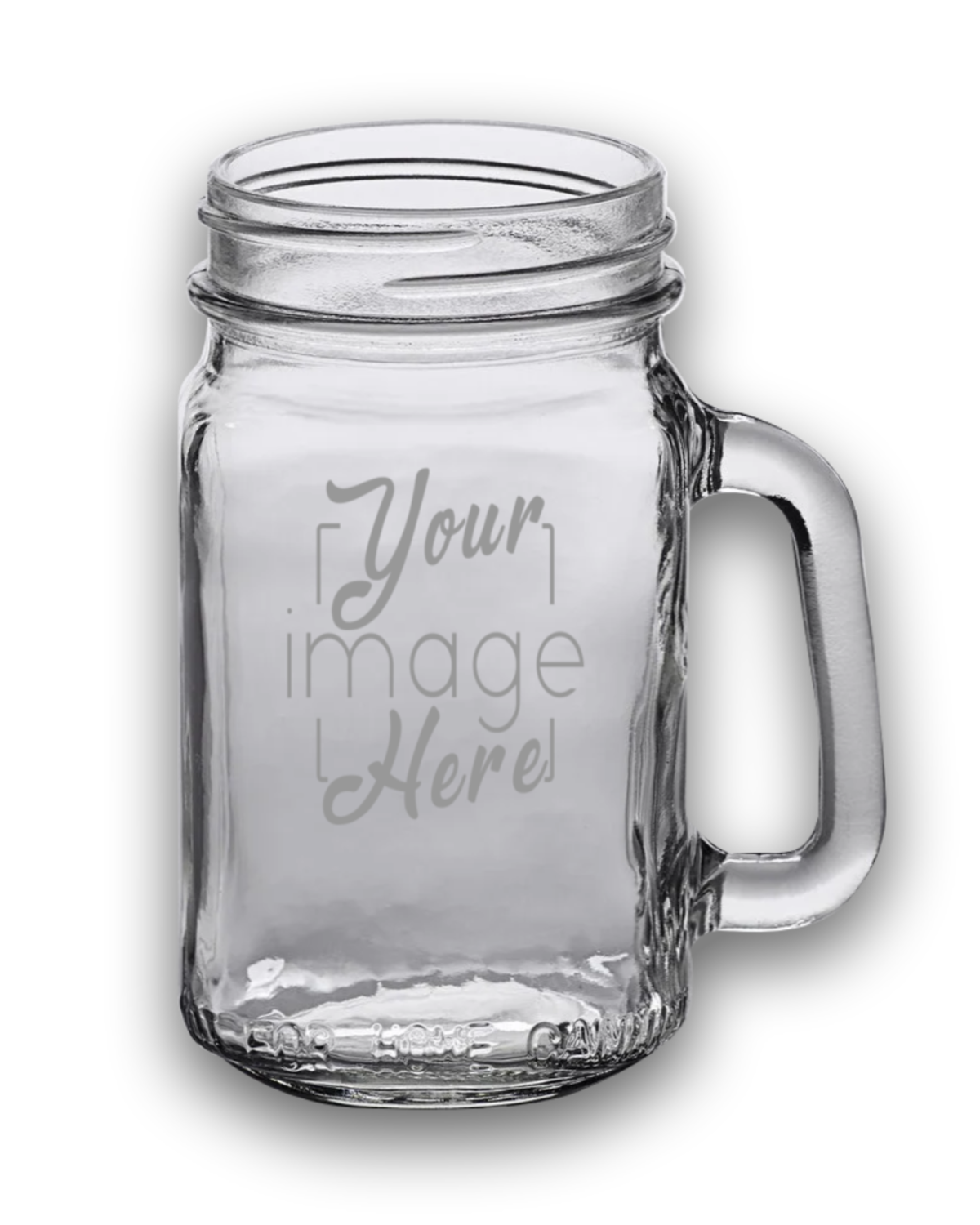 Custom Acopa Etched 16oz Mason Jar Mug