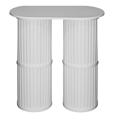 2 Pack of Pedestals with Oval Table Top