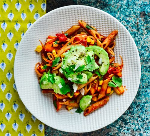 Recipe -  Mexican penne with avocado