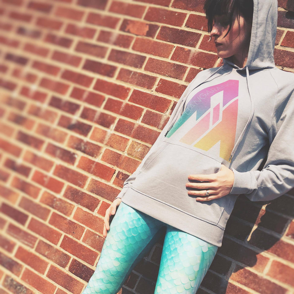 Origins Retro Rainbow Lightweight Grey Hoodie