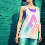 Origins Retro Rainbow FIT Long Muscle Vest Top