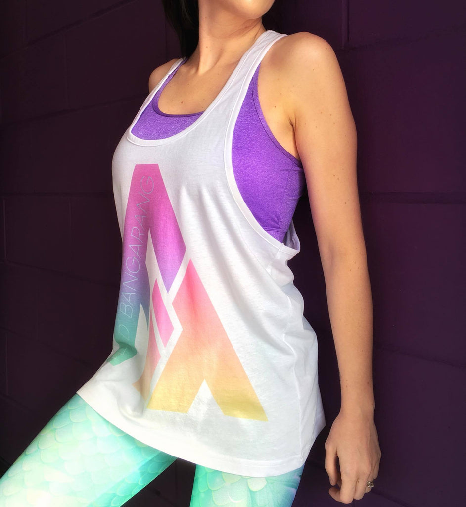 Origins Retro Rainbow FIT Long Vest Top