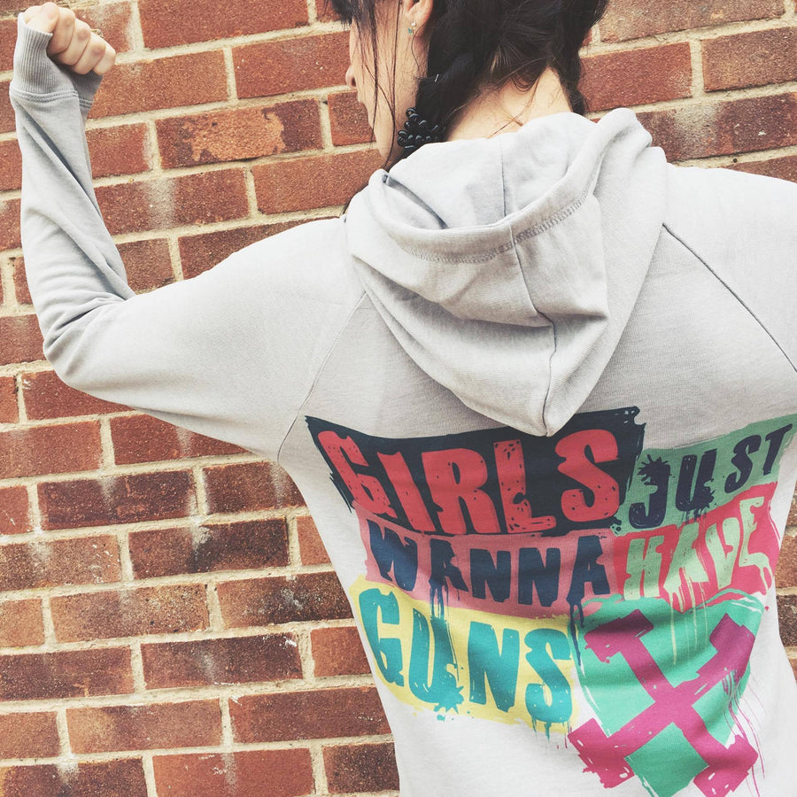 Girls Just Wanna Have Guns Lightweight Hoodie
