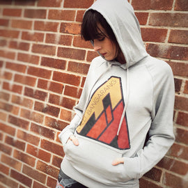 Origins Retro Burnt Lightweight Grey Hoodie