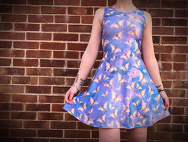 Claire Louise Butterflies Skater Dress