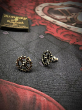 Alchemy Gothic Jewellery Industrilobe Earring Studs