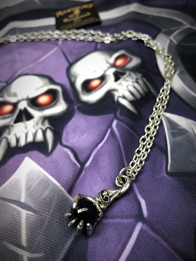 Alchemy Gothic Jewellery Pewter Clutching Life Necklace