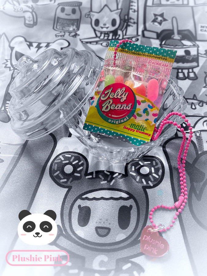 PlushiePink Kawaii Candy Sweets Gacha Jelly Beans Necklace