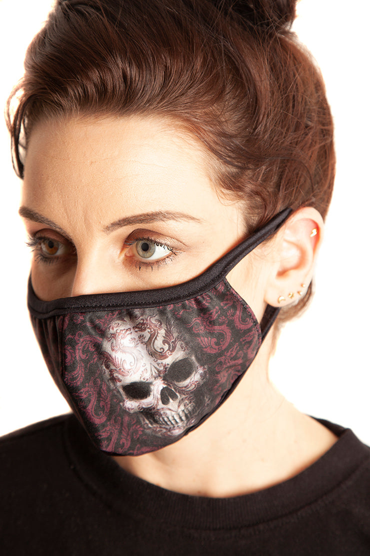 Official Anne Stokes Oriental Skull Face Mask