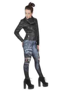 Anne Stokes Eastern Dragon Skull Leggings