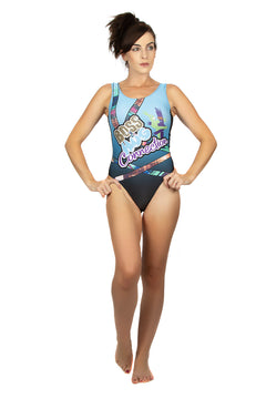 "WWE Sasha Banks Bayley ""Boss & Hug Connection"" Swim Body Suit"