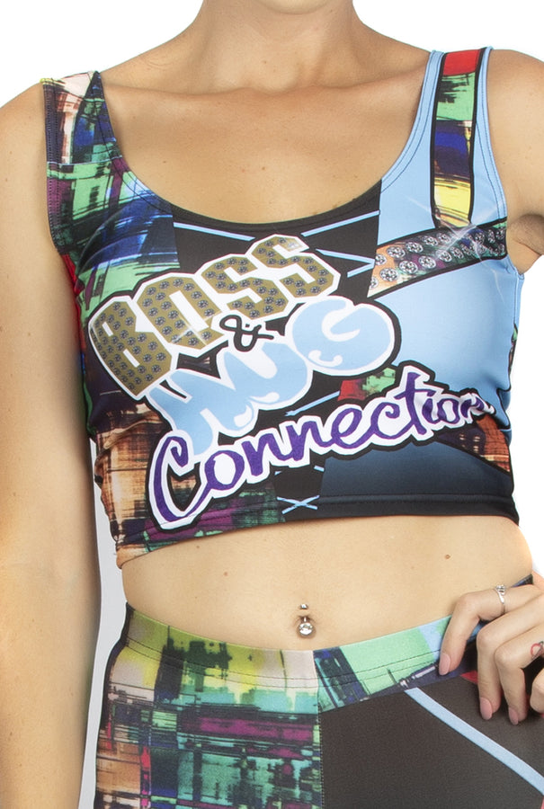 "WWE Sasha Banks Bayley ""Boss & Hug Connection"" Crop Vest"