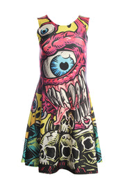Official Dungeons & Dragons Official Beholder Skater Dress