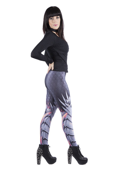 Black Dragon Skin Leggings