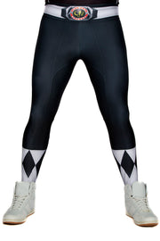 Official Hasbro Mighty Morphin Power Rangers Black Leggings