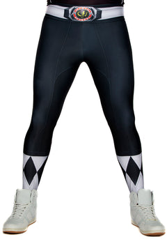 Hasbro Mighty Morphin Power Rangers Black Leggings