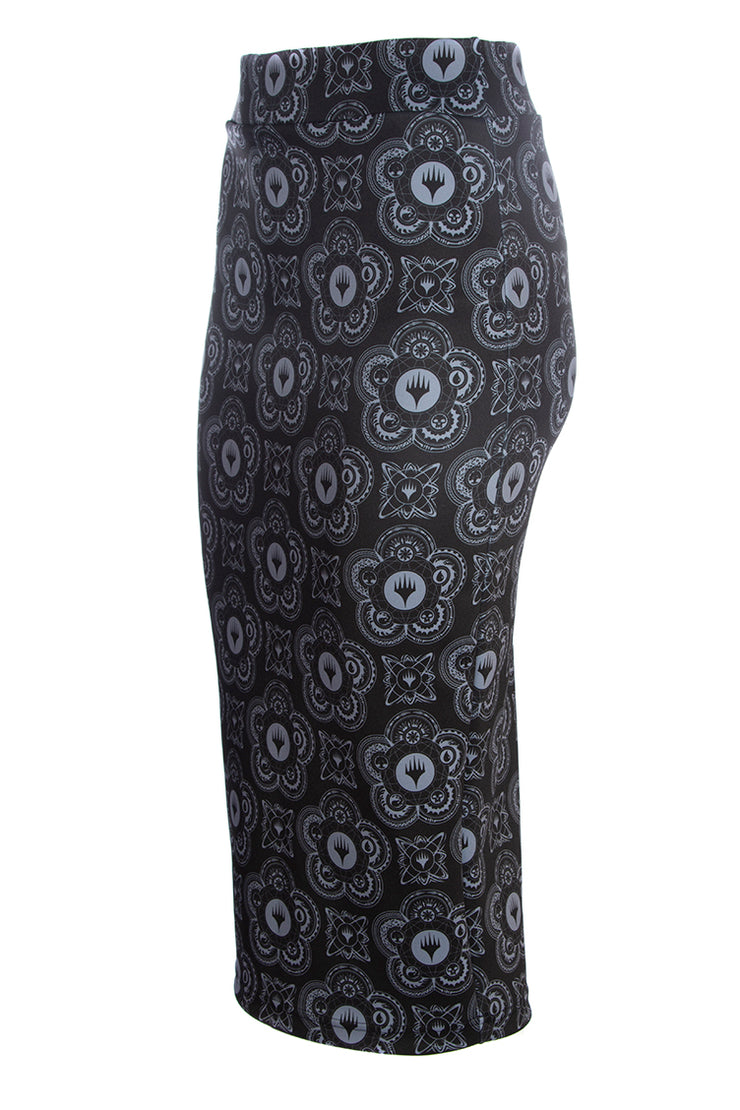 Official Magic: The Gathering Black Symbol Pencil Skirt