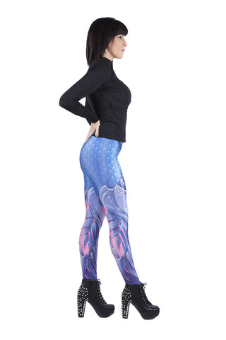 Blue Dragon Skin Leggings
