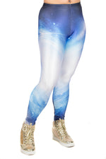 Galaxy Blue Space Leggings