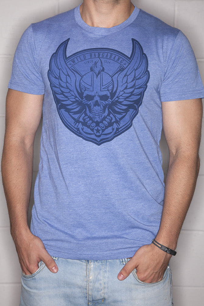 Logo T-Shirt Mens Blue