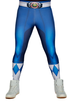 Hasbro Mighty Morphin Power Rangers Blue Leggings