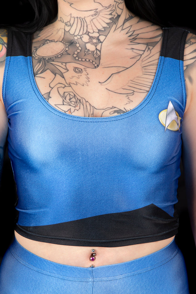 Star Trek The Next Generation Medical Blue Vest Crop Top