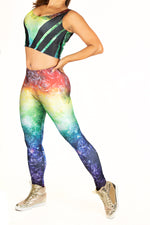 Galaxy Bubble Burst Space Leggings