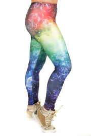 Wild Bangarang Galaxy Bubble Burst Space Leggings