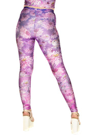 Wild Bangarang Claire Louise Purple Birdy Floral Leggings