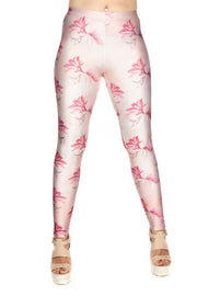 Claire Louise Peach Hummingbird Floral Leggings