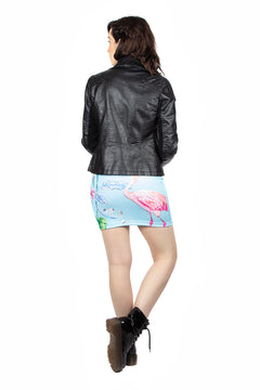 Claire Louise Flamingo Mini Skirt