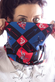 Official Dungeons & Dragons Retro Check Cartoon Snood
