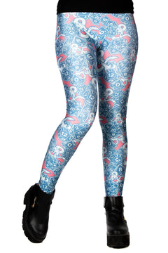 "Dungeons & Dragons ""Dice & Dragons"" Pink and Blue Leggings"