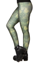 "Dungeons & Dragons ""Dice & Dragons"" Green Leggings"