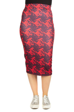 Dungeons & Dragons Red Logo Pencil Skirt