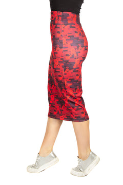 Dungeons & Dragons Red Dragon Wall Pencil Skirt