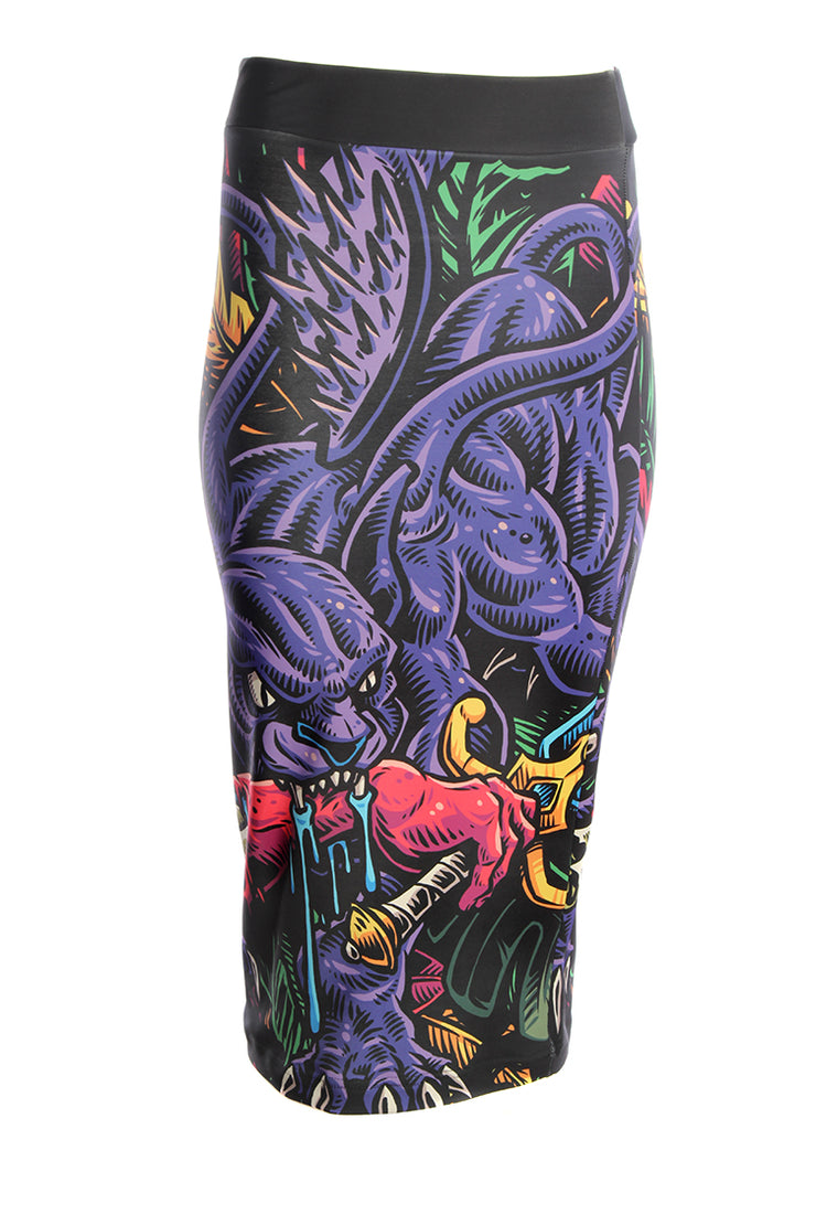 Official Dungeons & Dragons Official Displacer Beast Pencil Skirt