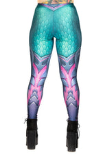 Cyan Dragon Skin Leggings