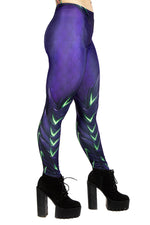 Purple Dragon Skin Leggings