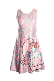 Official Hasbro My Little Pony Love Hearts Retro Skater Dress