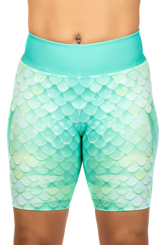 Emerald Sea Mermaid Shorts