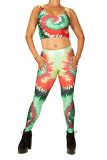 Festival Fashion Tropical Burst Leggings