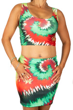 Festival Fashion Tropical Burst Mini Skirt